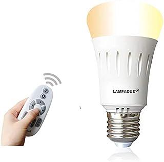 Lampaous - Luz nocturna LED E27 de 9 W, luz nocturna con mando a distancia, luz nocturna infantil, luz nocturna y color de...