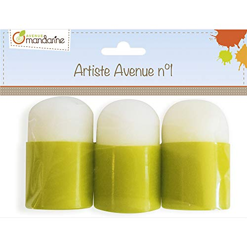 Avenue Mandarine 42461MD - Un lot de 3 tampons en mousse