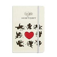 キューピッドエンジェルレッドの心からなるパターン 歴史ノートクラシックジャーナル日記A 5