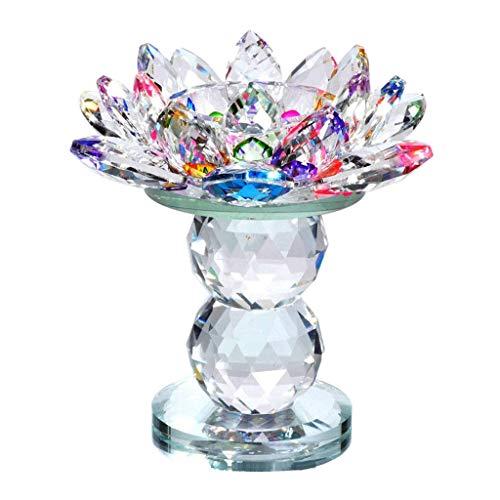 LOVIVER Crystal Lotus Flower Tealight Candle Holder Decorative Candlesticks Wedding Bar Party Valentine's Day Decor Art Crafts