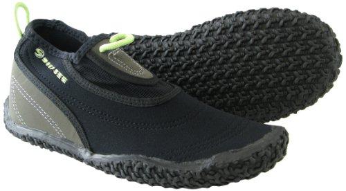 Deep See Women's Beach Walker Water Shoe (Black/Silver/Lime, 9)