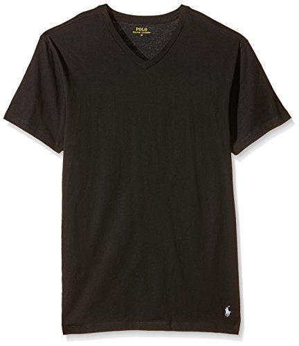 Polo Ralph Lauren Classic T-Shirt, Noir (Polo Noir/Polo Noir 001), S (Lot de 2) Homme