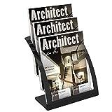 GBY revisteros Modernos Revista tamaño Revista tamaño contemporáneo revistero Suelo (Color : Silver)