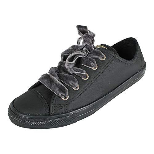 Converse Damen Chuck Taylor CTAS Dainty Ox Sneakers, Schwarz (Black/Black/Gold 001), 42 EU