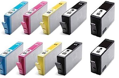 Printer Ink Cartridges Compatibele inktpatronen voor HP CN684EE / CB323EE / CB324EE / CB325EE / Photosmart 7510, 7520, B8550, B8553, B8558, C5324, C5370, C5373, C5380, C5383, C5388, C5390, C5393, C6324, C6380, C6383, D5460, D5463, D5463, D5468 / Photosmart Premium C309a, C309n/g, C310a, C410b / Photosmart eStation C510a, vervanging voor 364XL, zuinig, 10 stuks 2 x H-364 XL zwart, cyaan, magenta, geel, gechipd, gebruiksklaar, geen OEM-artikel