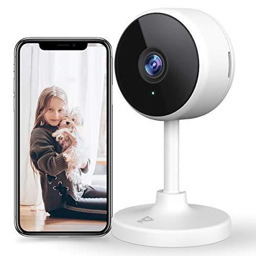 Überwachungskamera Innen, Littlelf WLAN IP-Kamera WiFi Kamera Heimkamera mit 2-Wege-Audio,1080P Überwachungskamera für Haustier/Baby/Ältere, Unterstützt Cloud-Speicher & SD-Karte