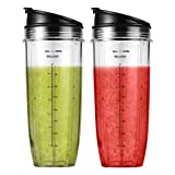 2-pack Replacement Parts 32oz Cup with Sip & Seal Lid Compatible with Nutri Ninja Auto IQ Series...