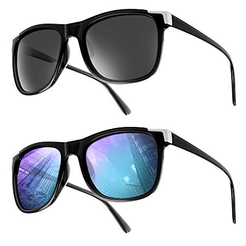 """UrbanSky Sonnenbrille """"Catherine"""" für Damen - 2er-Pack - polarisiert (Schwarz/Schwarz)"""