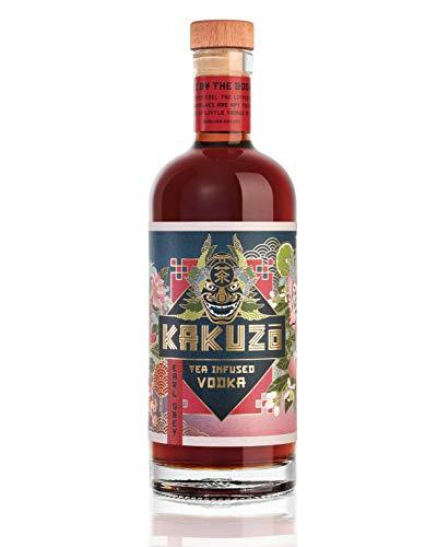 KAKUZO® Earl Grey Vodka - Japanische Vodka-Kreation - Verfeinert mit Tee Blend aus Japan, Indien & China - Würzig Mit Noten von Honig & Zitrus - Ideales Geschenk - Made in Germany (1 x 0,7l)