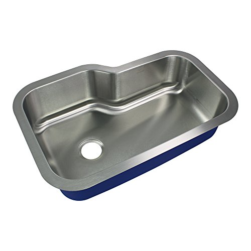 Transolid MUSO33229 Kitchen Sink, 33-in x 22-in x 9-in, Stainless Steel