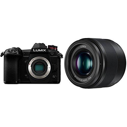 PANASONIC LUMIX G9 Mirrorless Camera Body (USA Black) and LUMIX G LENS, 25MM