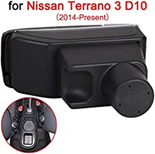 For Nissan Terrano 3 Armrest Box Car Central Armrests Dual-Layered Storage Box Cup Holder with 7 USB Port