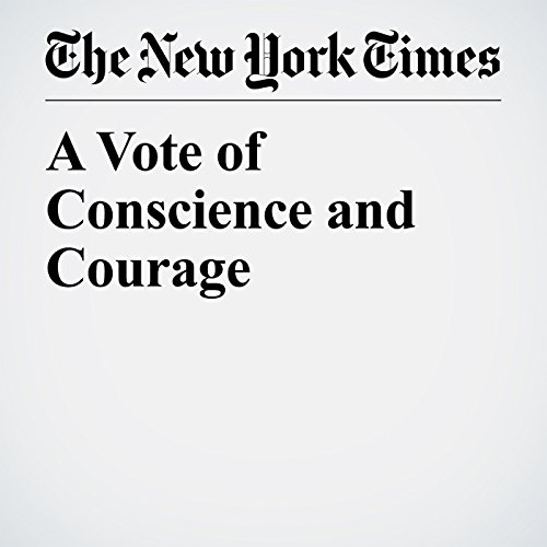 A Vote of Conscience and Courage copertina