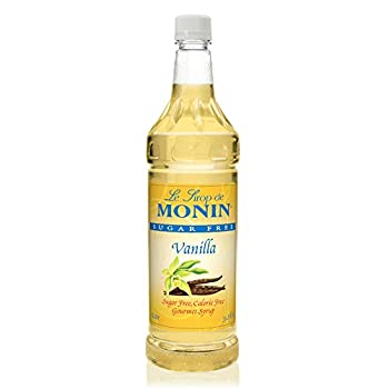 Monin - Sugar Free Vanilla Syrup Bold Vanilla Bean Flavor Great for Coffee Cocktails & Lattes Gluten-Free Non-GMO  1 Liter