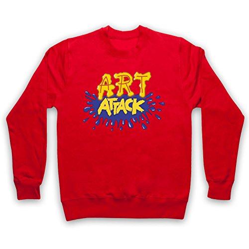 My Icon Art & Clothing Art Attack Kids TV Logo Buchanon Disfraz Sudadera Adulto rojo L