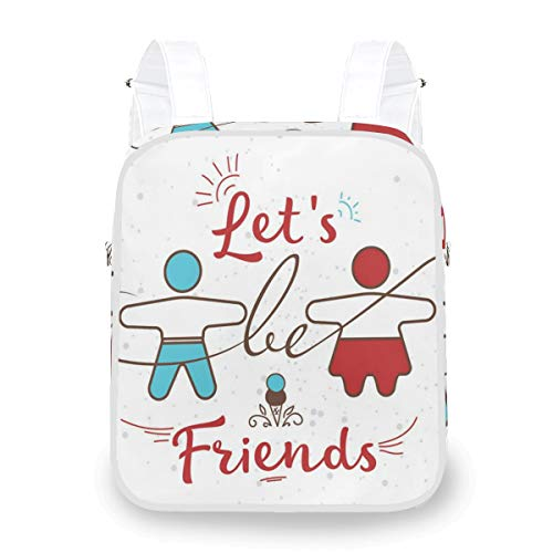 DoubleCW Best Friend Backpack Water Resistant School Backpack for Women Men College Student and Notebook Daypack for Travel Outdoor CampingDual-purpose Crossbody bag