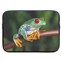 ラップトップスリーブケース Frog Animals ノートパソコン インナーケース ネオプレン 防水 衝撃吸収 PCプロテクターバッグ Acer Dell HP Toshiba FUJITSU ASUS Lenovo MacBook MacAir Pro タブレット 対応 13 inch