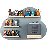 KLEIDKIND'S Wooden Cloud Shelf for Tonies - Compatible with Toniebox - Wall Shelf for 14 Figurines - for Playing and Collecting - for Children's Baby Room
