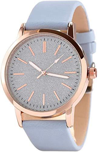 HUIQ Reloj de Cuarzo de Cuero para Mujer, Reloj de Moda para Mujer, Relojes de Pulsera para Mujer, Reloj de Pulsera Informal para niñas, Mujeres, Estudiantes, Mujeres-Gris