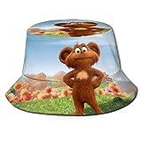 Sombrero de Pescador de Dibujos Animados Lorax Ted, protección UV de Verano, Sombreros de Cubo de Viaje, Gorra de Playa Plegable para Hombres y mujeres-868