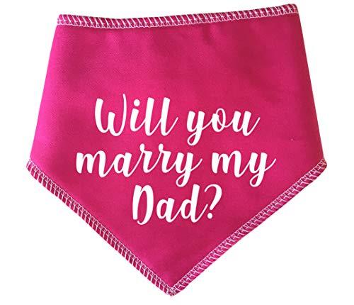Verpest Rotten Huisdieren, S1 Wil je met mijn vader trouwen? Extra kleine roze hond Bandana. Leuke bruiloft voorstel, mooie jurk voor honden geschikt voor miniatuur honden, teckels en katten