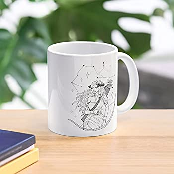Sagittarius Woman Tattoo Design 11 Oz Premium Quality printed Coffee Mug Comfortable To Hold Unique Gifting ideas for Friend/coworker/loved ones