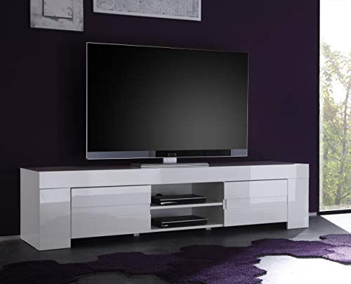 TV EOS Grande Armadio a 2Ante, 190x 45x 50cm, Bianco Lucido
