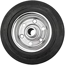 Dörner + Helmer 710222 massief rubberen wiel 200 x 50 x 20 mm met wiellager naafbreedte 58 mm