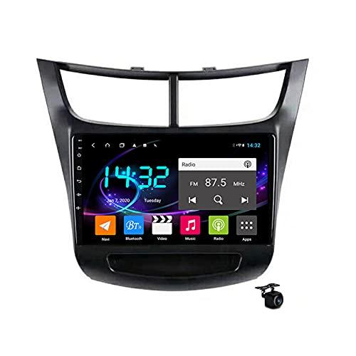 SAT NAV Android 10.0 Coche Estéreo Radio para Chevrolet Sail 2015-2018 GPS Navigation 9 '' Headunit MP5 MP5 Multimedia Video Player Receptor con 4G 5G WiFi SWC Carplay,4core wifi 1+16gb
