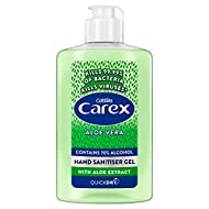 Independently tested and proven to kill enveloped viruses; kills 99.99 Percent of Bacteria: Protect against germs and viruses with Carex Aloe Vera Anti Bacterial Gel Protects: treat yourself to cleansed hands with Carex's softly scented hand sanitise...