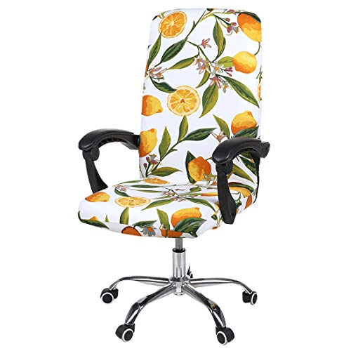 smiry Stretch Printed Computer Office Chair Covers, Soft Fit Universal Desk Rotating Chair...