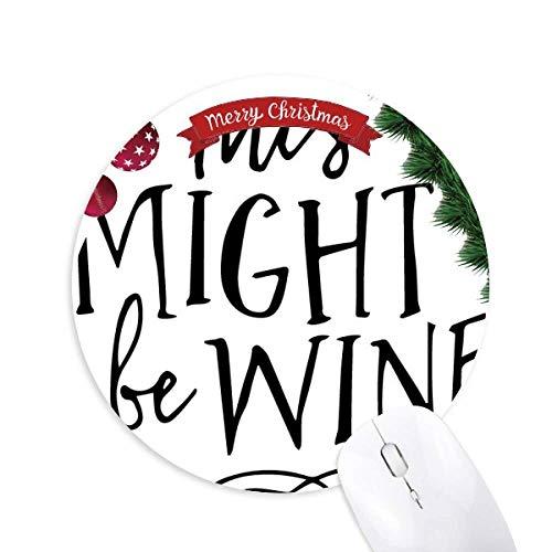 Dies könnte Wein Lace Design Rund Gummi Maus Pad Weihnachtsbaum Mat