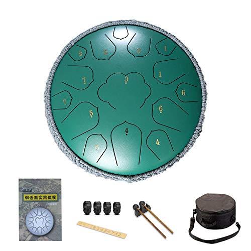 Steel Tongue Drum, 12 Pulgadas Y 35 Notas Chakra Tank Drum, Instrumento De Percusión Lotus Hand Pan Drum, C-Key Handpan Drum con Bolsa, para Educación Musical Concierto Mind Healing Yoga