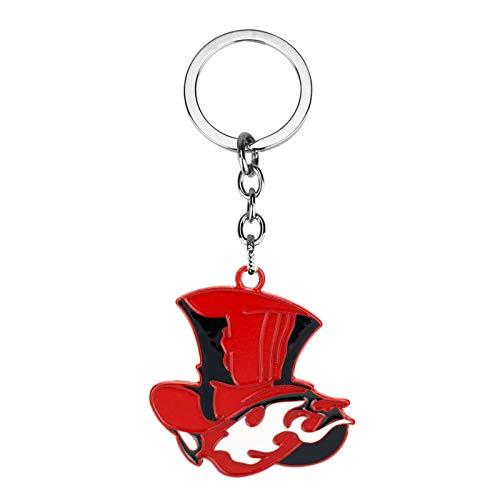 ZXLNB Porte-Clés Avec Chaperon Rouge, Logo De Personnage De Jeu Japonais Unisexe, Petits Accessoires, Cadeaux Souvenirs