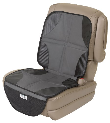 Summer DuoMat Car Seat Protector, Black - Protective Waterproof Seat Cover Pad with Mesh Pockets