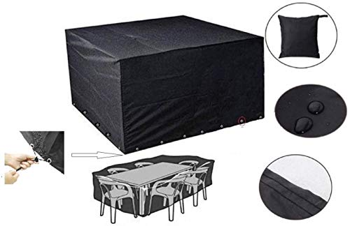 HelpCuisine® Copritavolo da Giardino/Telo Copri Tavolo da Esterno Impermeabile, Anti- UV, Telo Protettivo per Tavolo e sedie di Alta qualità (210 x 150 x 70cm)