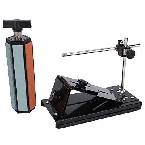 Afilador de ángulo fijo, afilador de cuchillos de ángulo fijo giratorio de 360 ° para cepillos y cuchillos de cocina para la industria para amoladoras de herramientas Tijeras, cinceles
