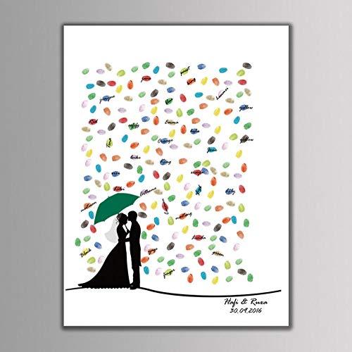 RFGED Mode Fingerabdruck Geburtstag DIY Party Hochzeit Anmelden Paar Unter Regenschirm Wohnkultur Malerei Spiel Farbbild Handgemalte Landschaft