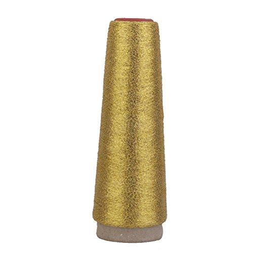 PIXNOR 5000 yardas Hilo de Costura de Poliester (oro)