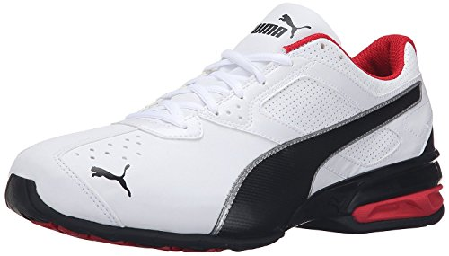 PUMA Men's Tazon 6 FM Puma White/ Puma Black/ Puma Silver Running Shoe - 8.5 D(M) US