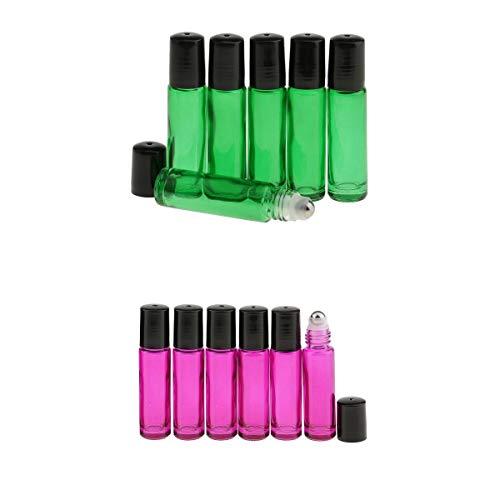 Perfeclan 10ml Vide Rechargeable Bouteille de Vaporisateur en Verre Rechargeable pour Huiles Essentielles, Essences, Parfums, Maquillages