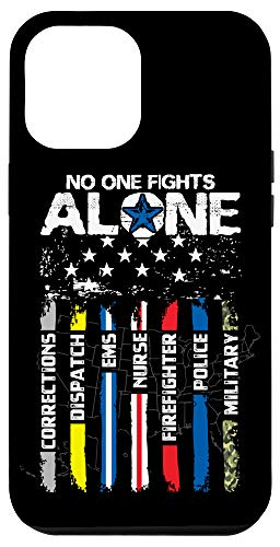 iPhone 12 Pro Max First Responders American Thin Line Police Fire Military EMS Case