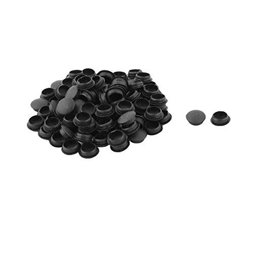 sourcingmap meuble maison, forme rond bouchon vis Fil désign noir chape 98pcs
