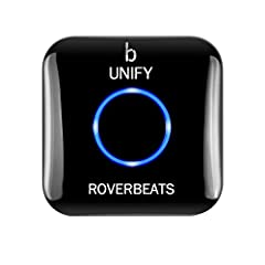 STREAM WIRELESSLY Add bluetooth compatibility to devices that don't have bluetooth by connecting the Roverbeats Unify Bluetooth Audio Receiver to your high-quality speakers headphones home/car stereo sound systems or any devices with A/V RCA and 3 5m...