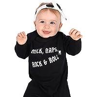 Rock Pijama de bebé para niños o niñas | Nuevo Cool Milk, Naps, Rock & Roll / Mono de – baby shower, ropa de recién nacido o regalo de 1st cumpleaños | Baby Moo's (3-6 meses)