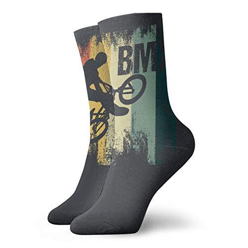 Calcetines deportivos retro BMX Pop Art 1 con estampado de tobillo suaves para hombres y mujeres
