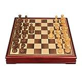 Scacchi Scacchi di legno di scacchi di legno degli scacchi portatili dell elegante progettazione di progettazione durevole della struttura completa delle funzioni complete facili da trasportare il reg