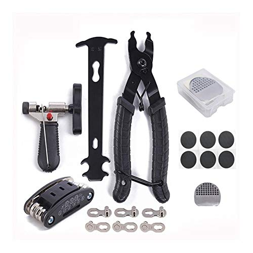 tools Bike Kit, Bike Multifunction Puncture Repair Kit Mountain Bike Accessories Bike Cycling Repair Bundle Cycle Maintenance Kits Set with Patch Kit & Tire Levers
