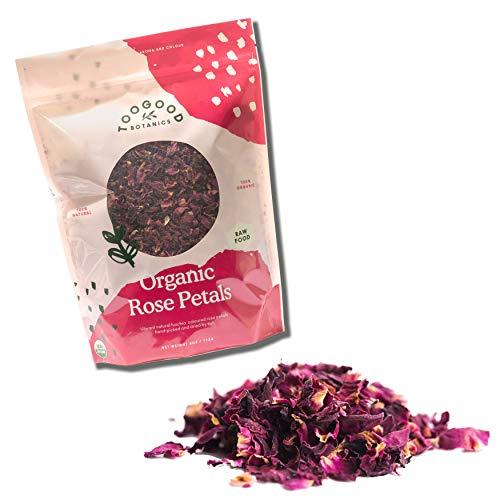 Certified USDA Organic Dried Rose Petals, Edible Premium Food-grade, non-GMO, Vegan, Herbal Teas, Baking, Best Value (4 ounce)