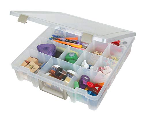ArtBin Portable Art & Craft Organizer with Handle [1] Plastic Storage Case Clear, 1 Pack